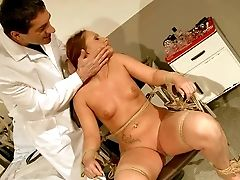Red-haired Mia Ferrara With Diminutive Tits Finds Herself Naked And