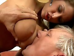 Hot Bum Brown-haired Whore Alison Starlet Gets Gobbled And Boned Deep By Old Good Looking Banger Christoph Clark